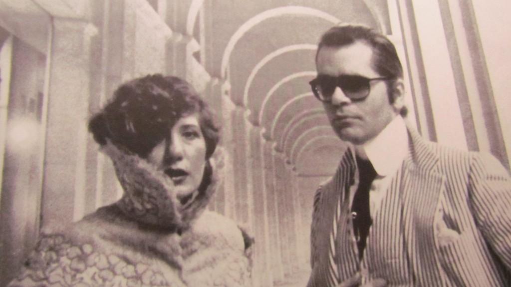 Anna Piaggi si Karl Lagerfeld, anii '80