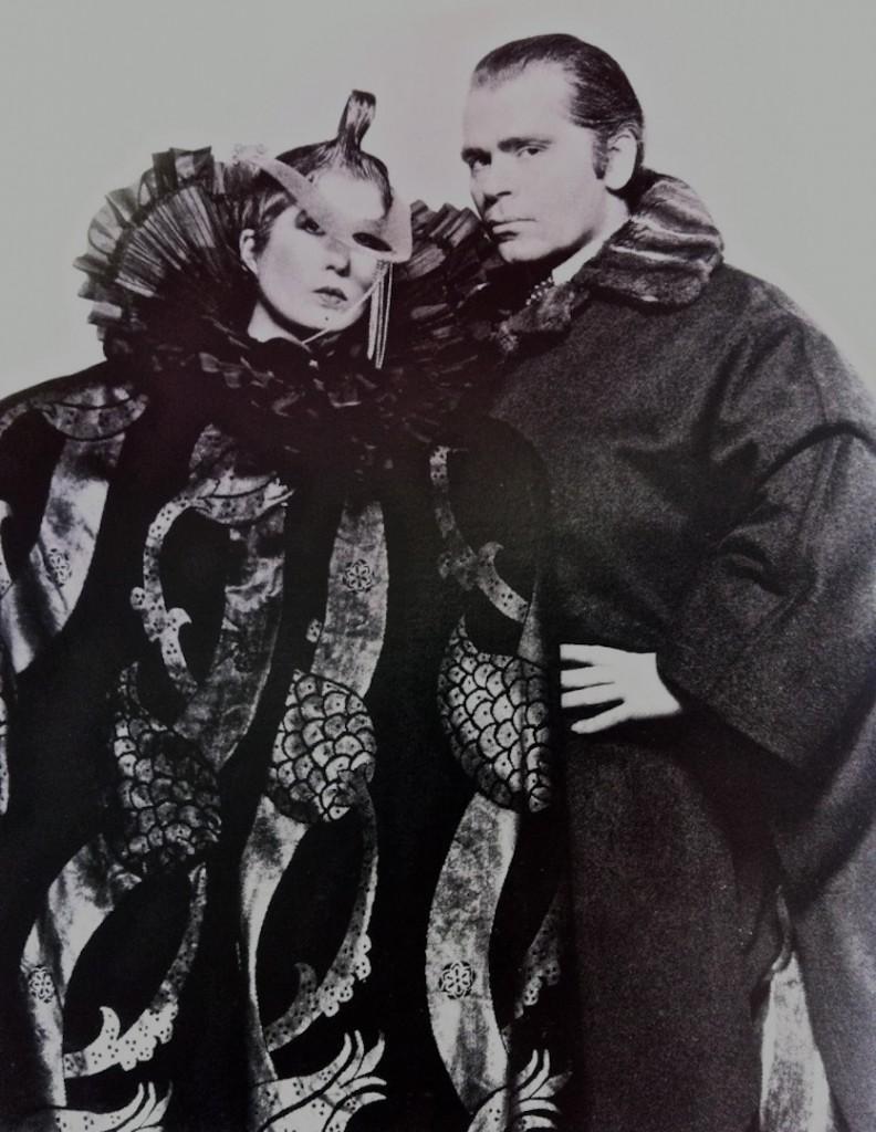 Anna Piaggi si Karl Lagerfeld in 1986