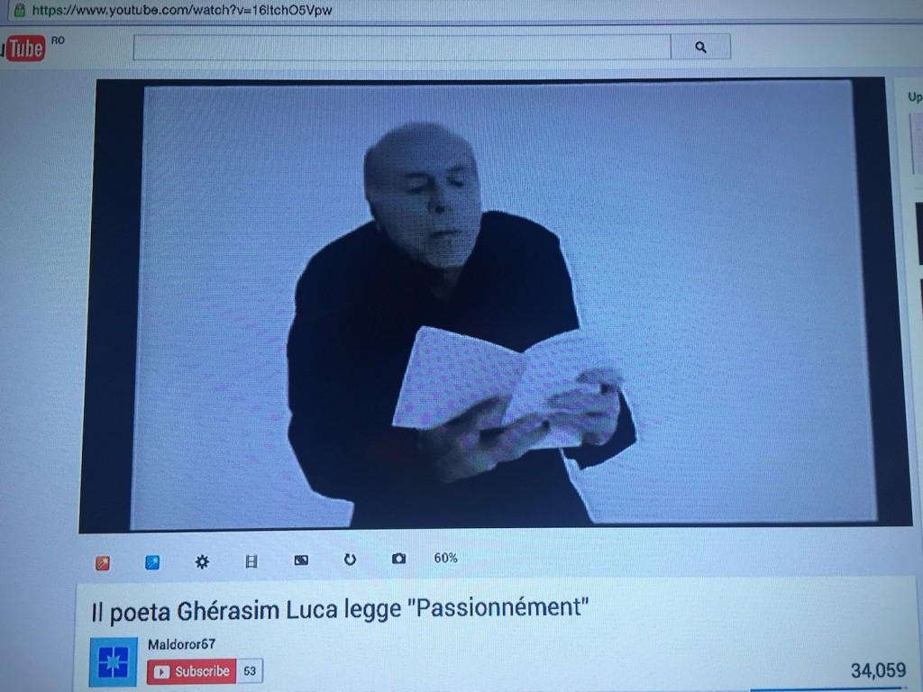 Gherasim Luca recita