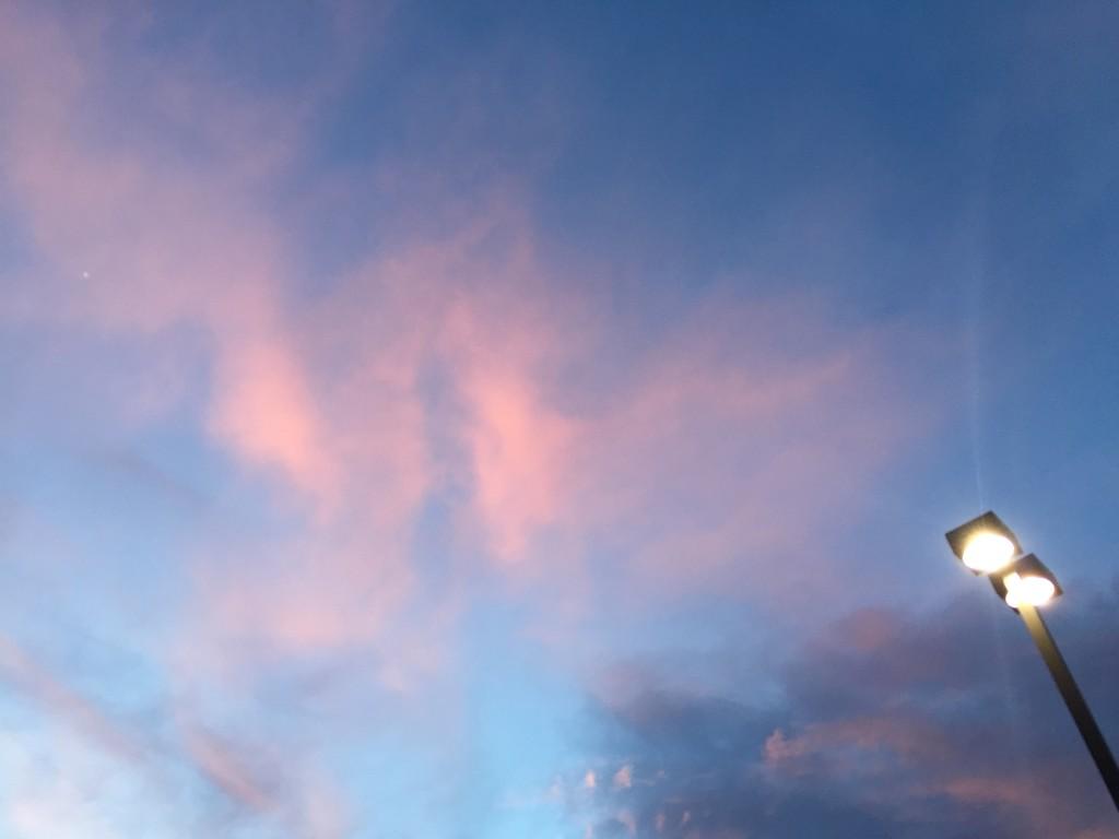pink real sky, May at Fresh and Easy