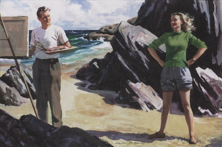 tablou pictat de Harry Anderson