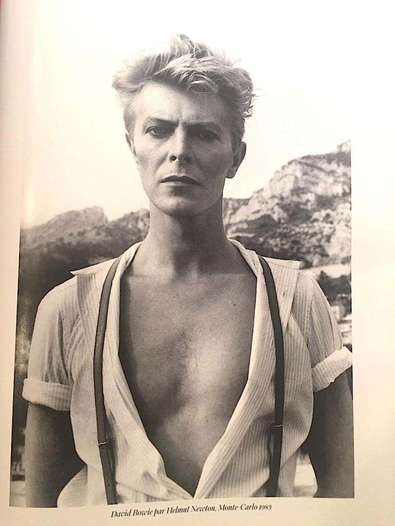 David Bowie fotografiat de Helmut Newton, Monte Carlo, 1983