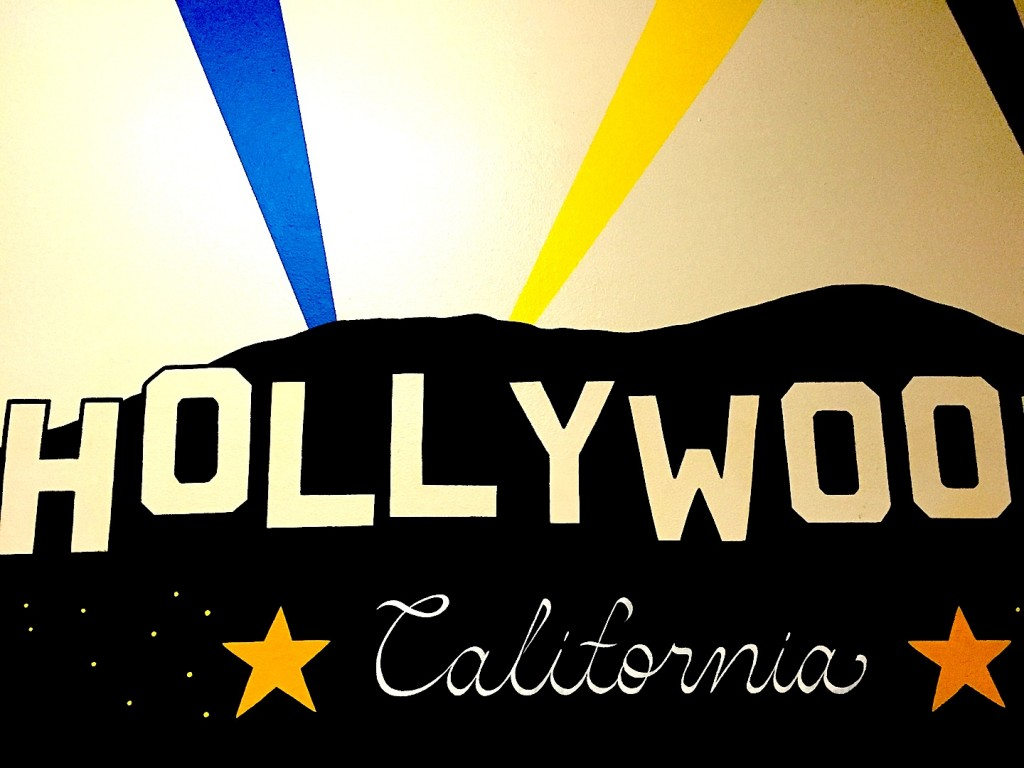 Hollywood on the walls, toaleta de la Peggy Sue, iunie 2015 Diner