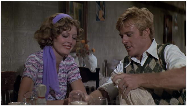 Susan Sarandon si Robert Redford, scena din The Great Waldo Pepper, 1975