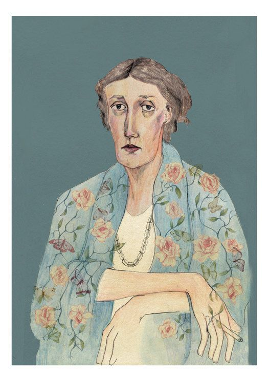 Virginia Woolf pictata de Bett Norris