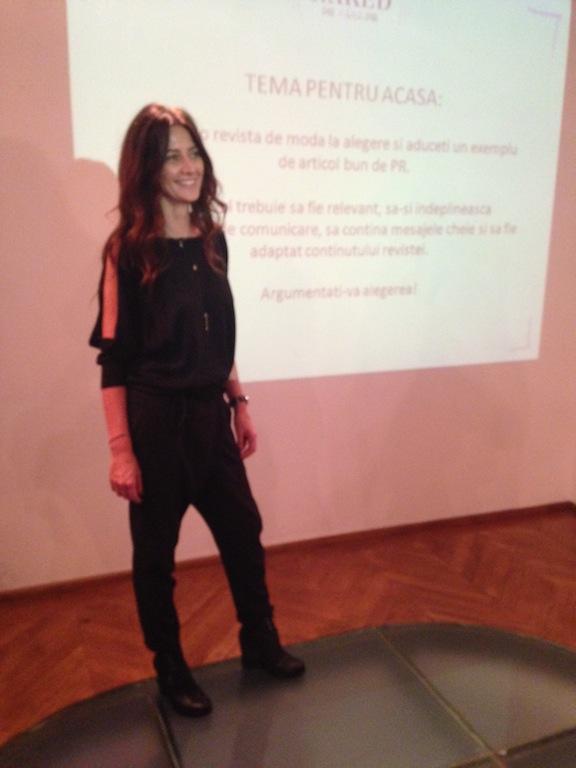 Adriana Chiper, speaker in toamna lui 2013
