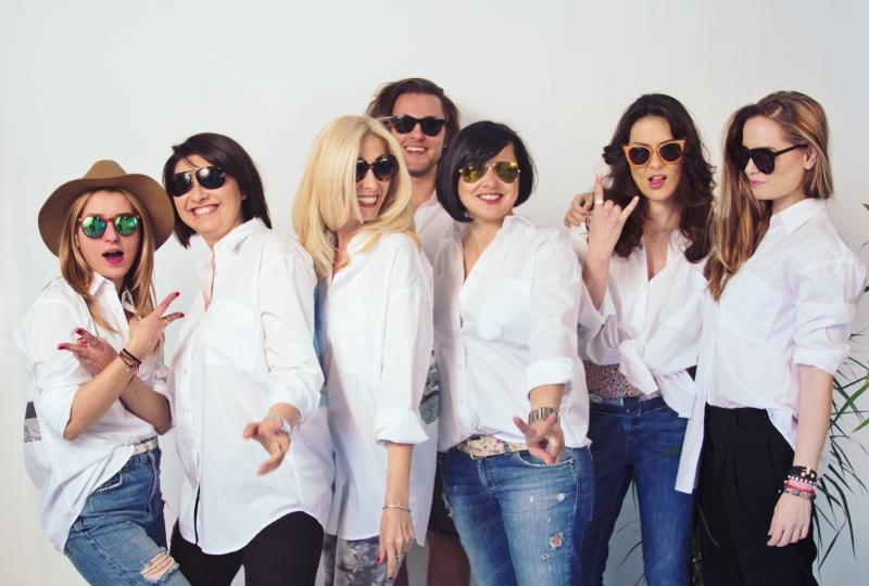 de la stanga la dreapta, Oana Busuioc, Alina Rachieru, Noemi Meilman, Florin Ioanitescu, Magda Soare, Marina Moldovan, Diana Marasoiu