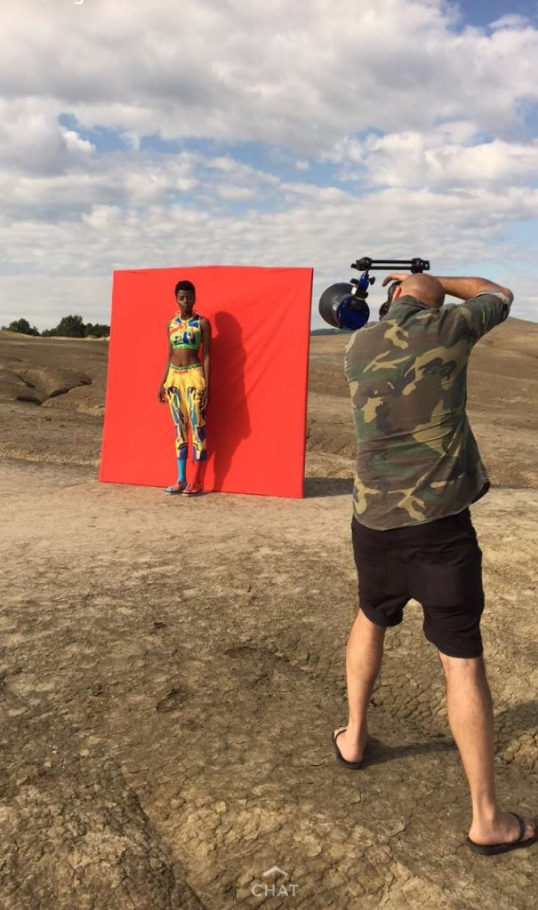 Eva Cerbu, shooting de campanie Andreea Buga. Oltin Dogaru on set by Ovidiu Buta