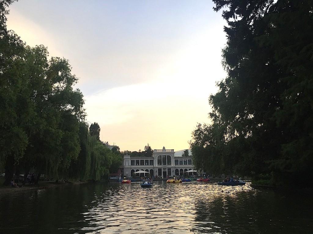 apus de soare in Parcul Mare Cluj, 2 iulie 2016