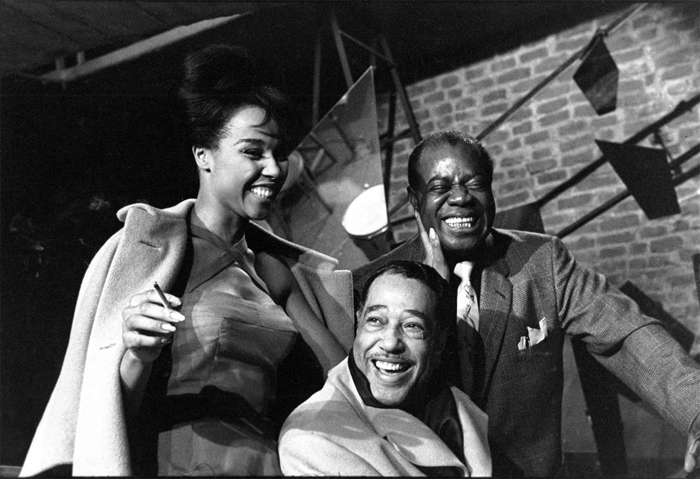 Duke Ellington, Louis Armstrong si Diahann Caroll, Paris, 1960