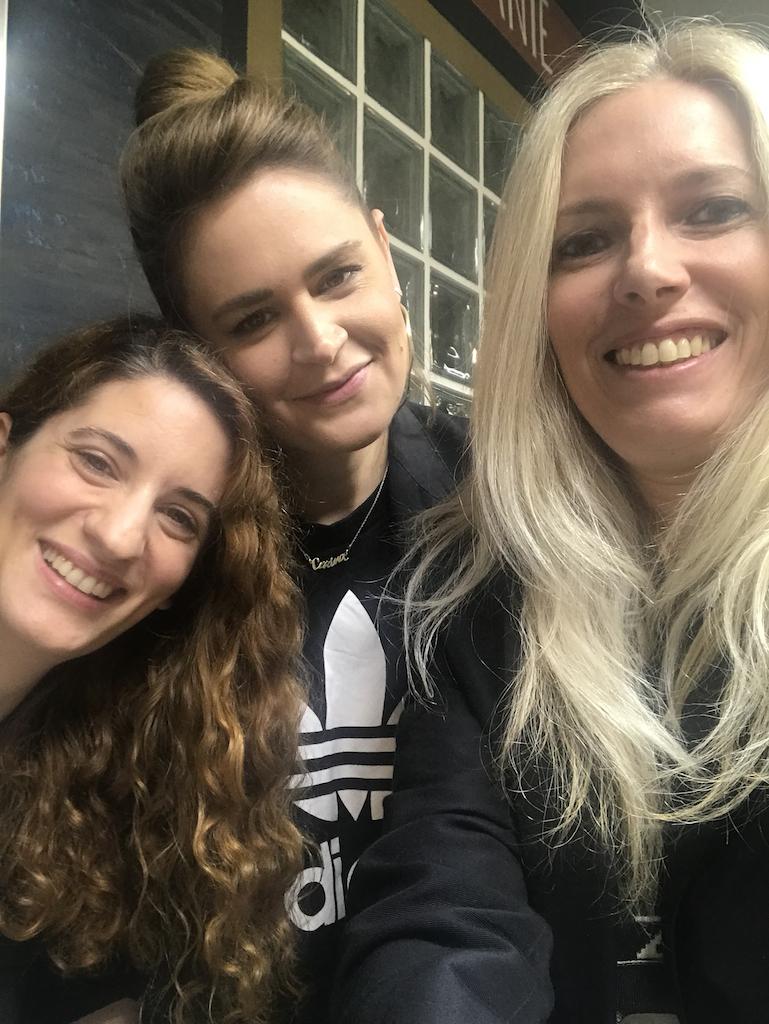Cu Cerina Ratiu si Ioana Dumitrescu la deschiderea oficiala Mega Image Cobalcescu 45
