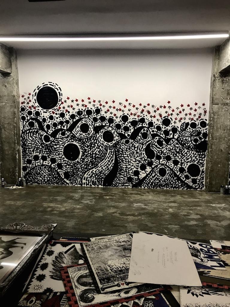 Halucinarium Loft, Tara von Neudorf, perete pictat live in data de 11 iunie