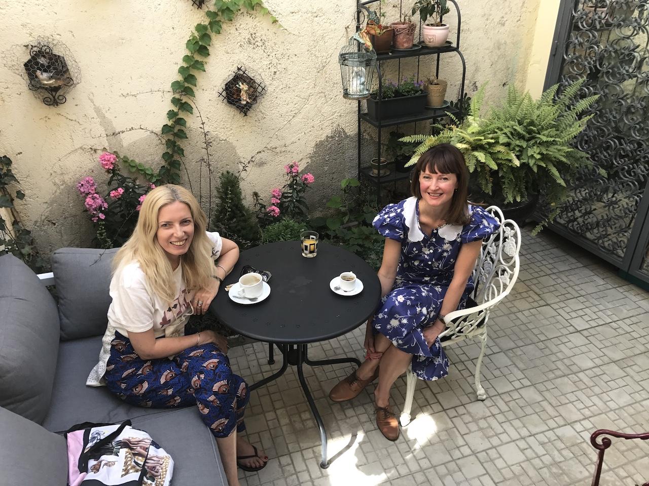 cu Andreea Balint, in patioul cel splendid
