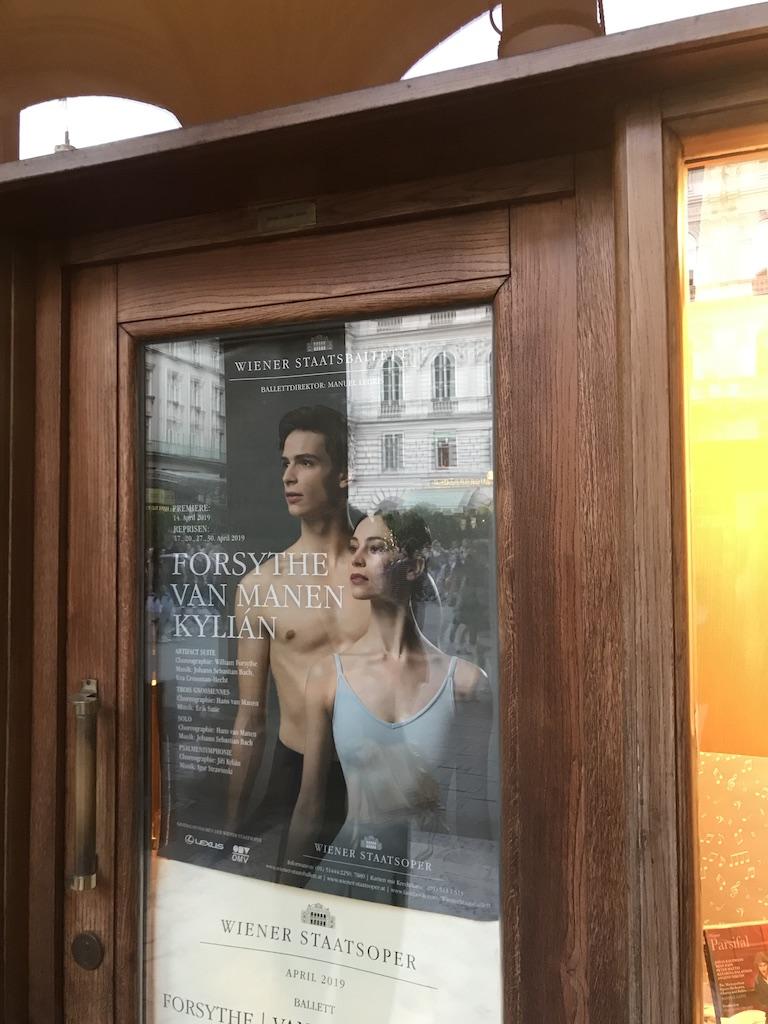 afis balet contemporan, Opera din Viena