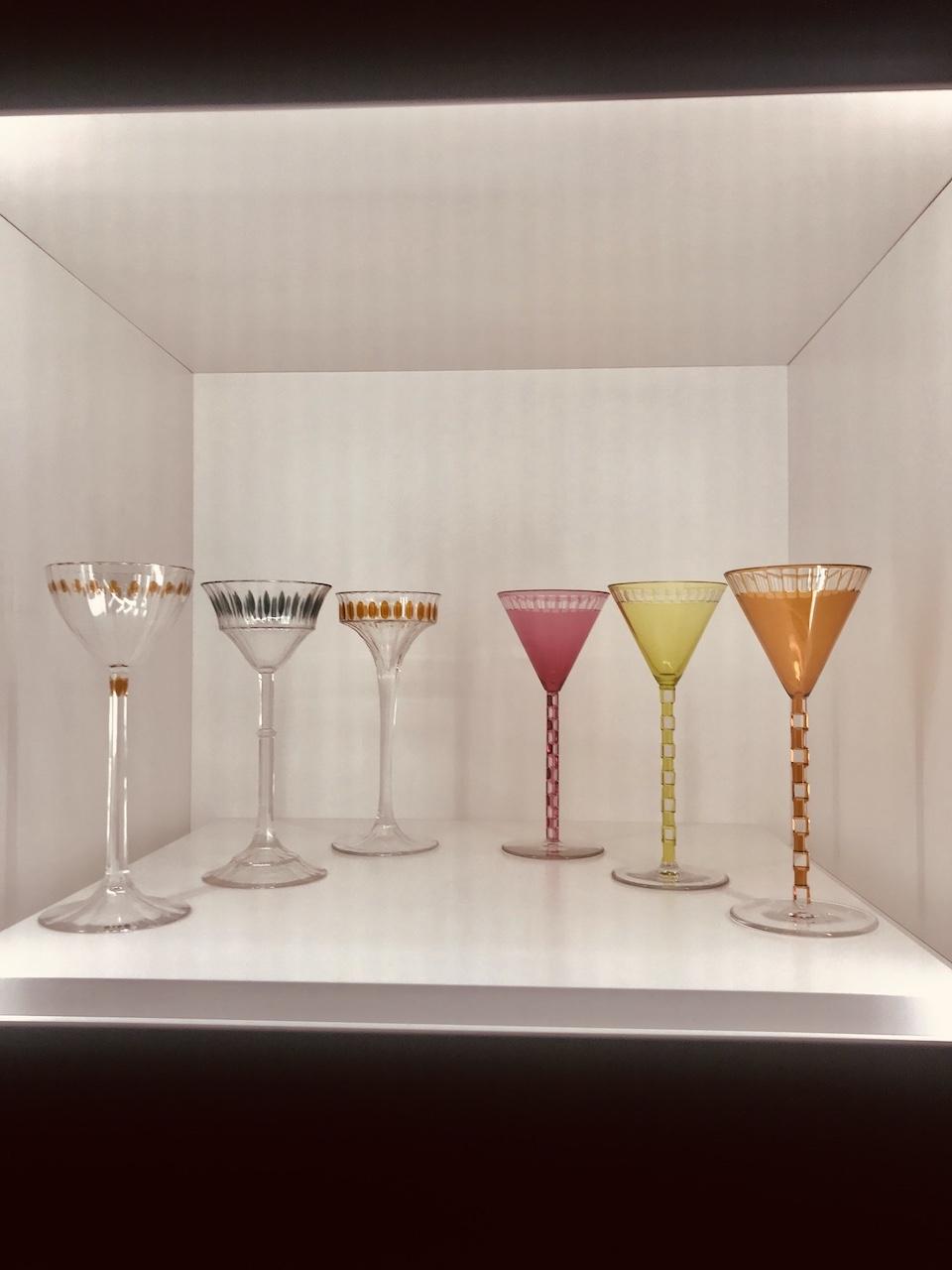 pahare de champagne si de vin, Otto Prutscher