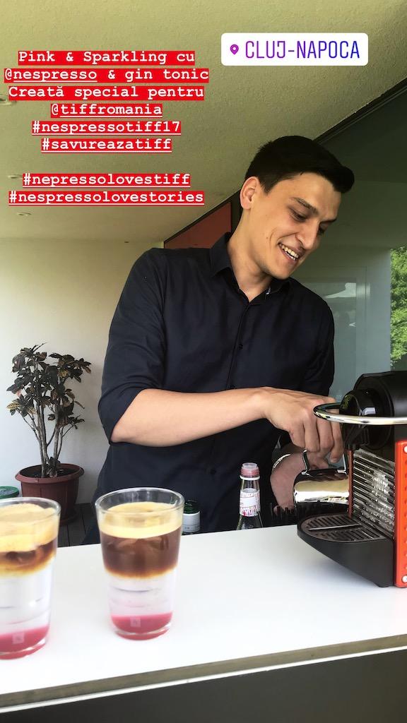 Alin Dorobantu makes a perfect coffee