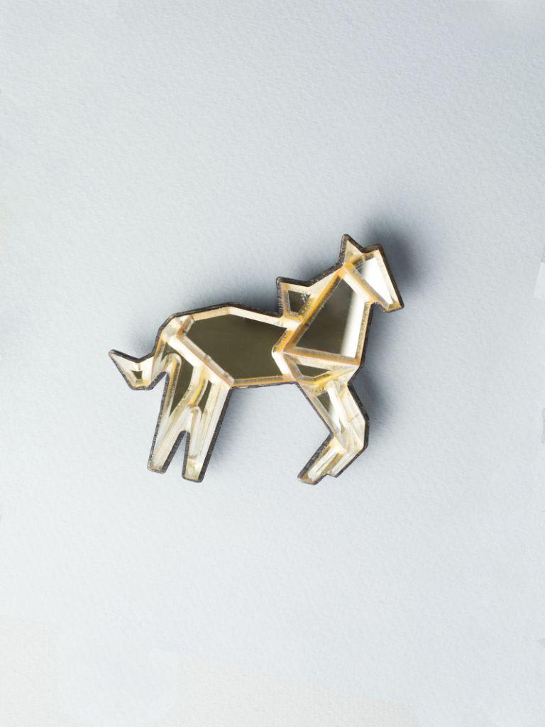 Carla Szabo Golden-Horse-Brooch-768x1024