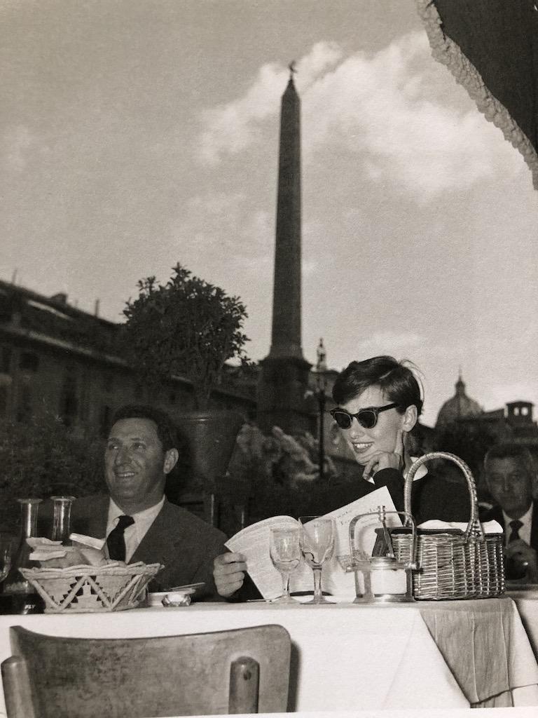 Audrey Hepburn si Alberto Sordi la Roma, the '50s