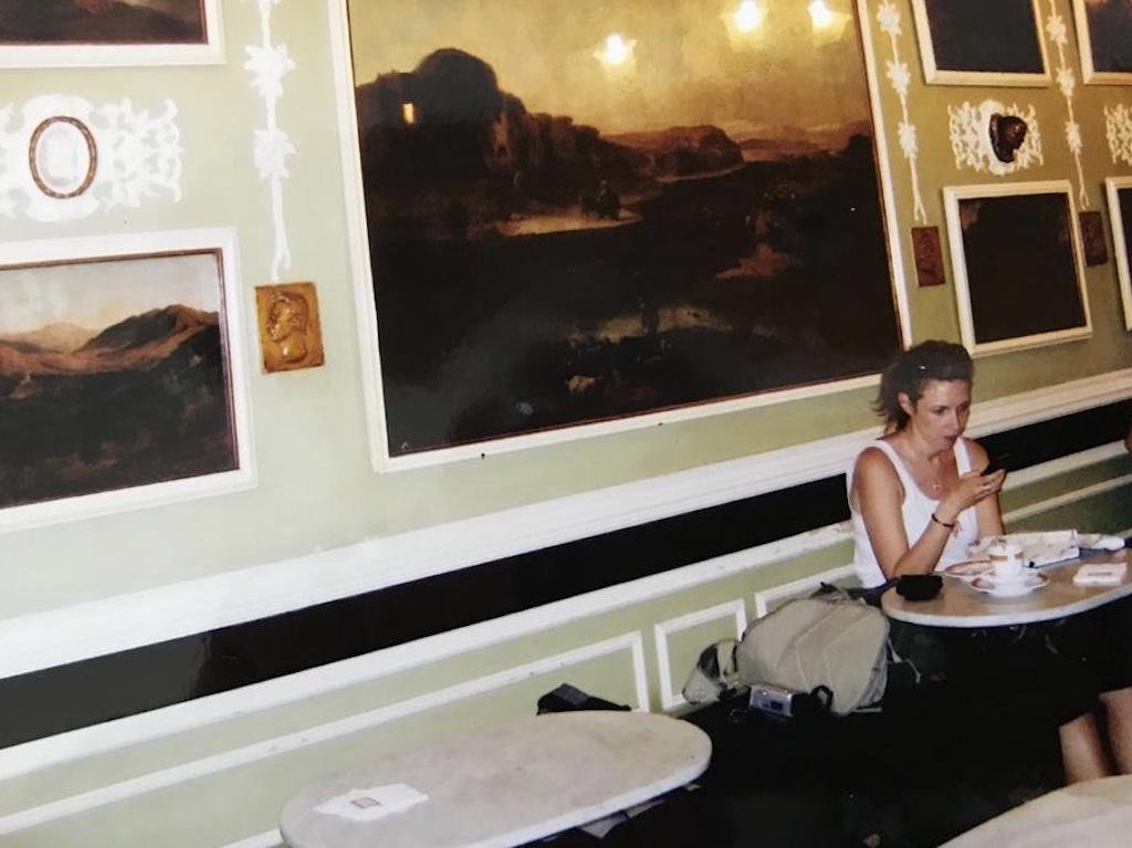 La Cafe Grecco, Roma, by mom
