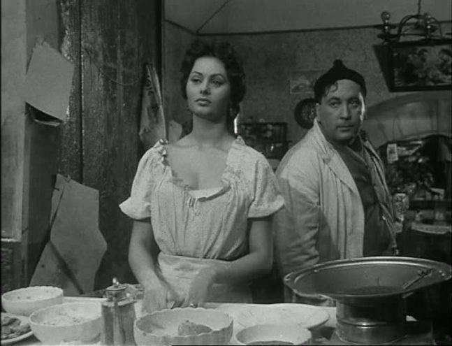 Sophia Loren filmand in Napoli