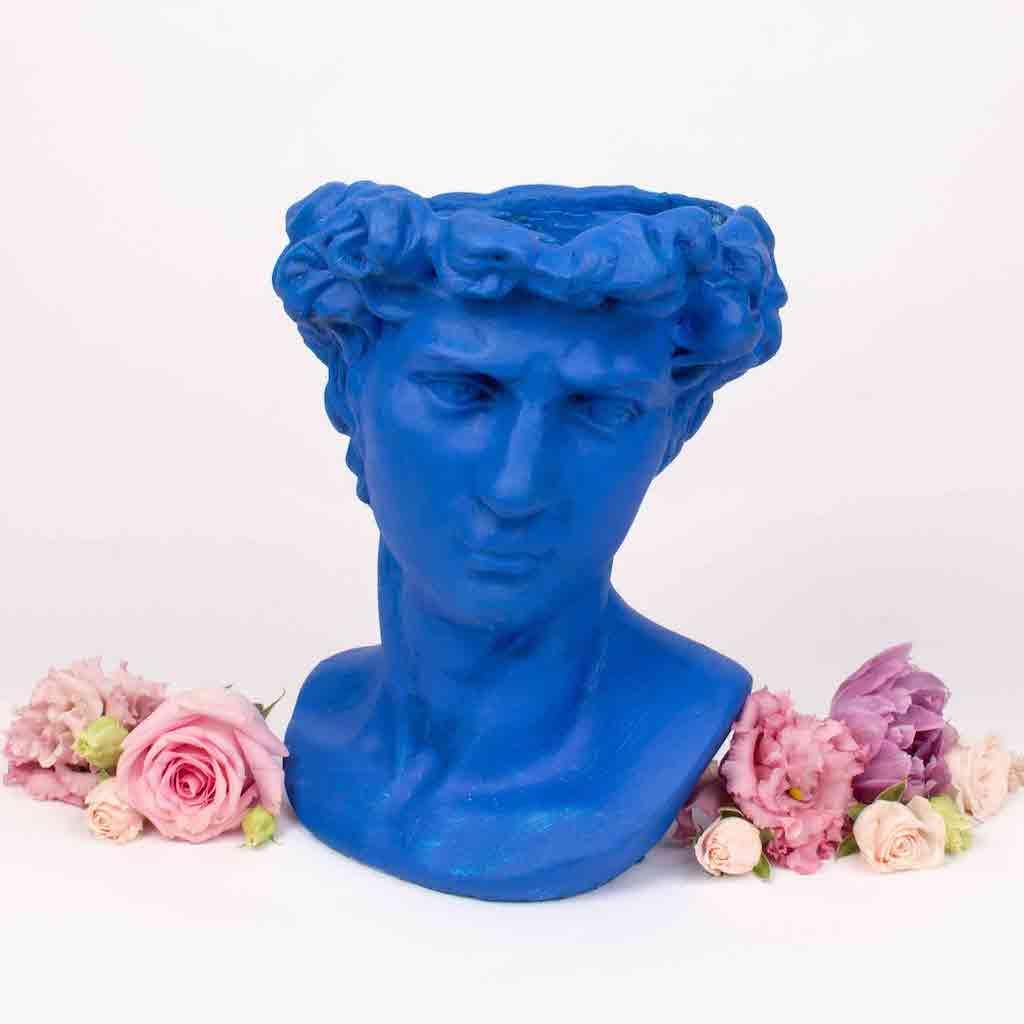 Purple Flowers, vaza barbat-mare-albastru