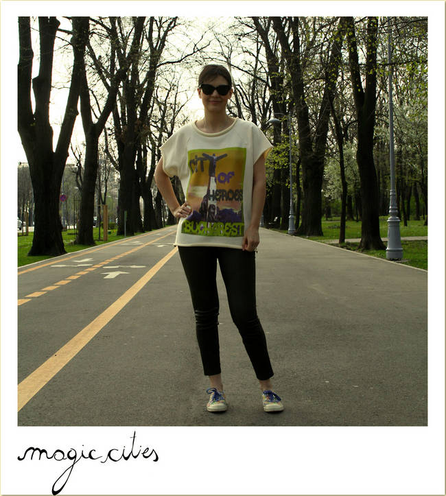 Vicki Nicola poarta tricoul Bucuresti. Magic Cities, Noemi Meilman x Le Petit Indigent, primavara 2014