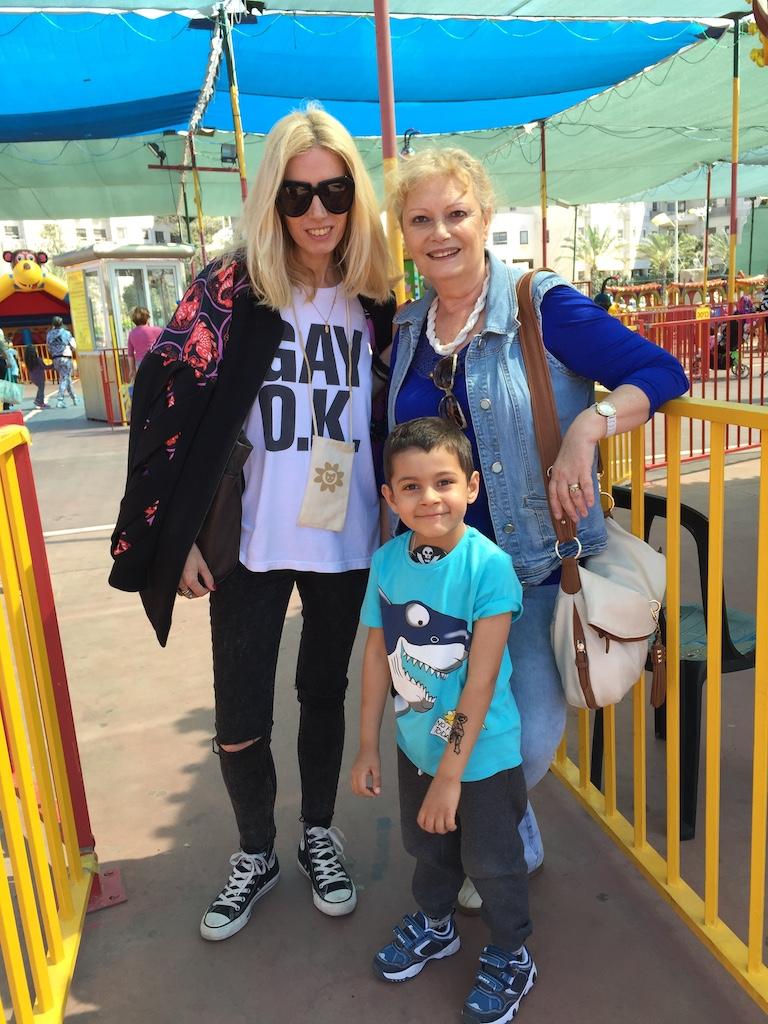 4 aprilie 2015, cu mama si Avi in Israel